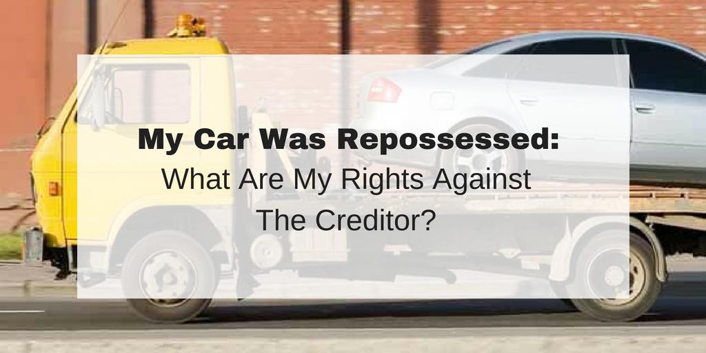 my car was repossessed