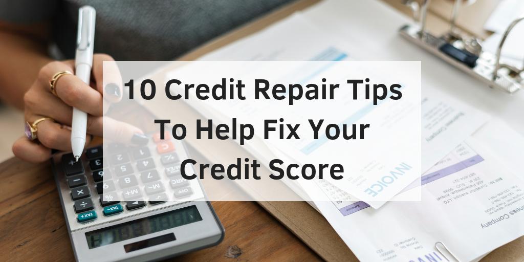 credit repair tips